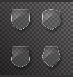 Glass shield protection icons template design vector