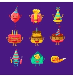 Happy Birthday And Celebration Party Symbols vector