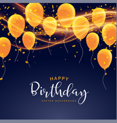 happy birthday celebration card design vector image