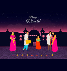Happy diwalihappy diwali traditional indian vector