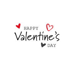 happy valentines day concept holiday typography vector image