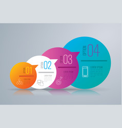 infographics design with 4 options vector image