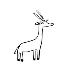 Informative poster deer cub drawn style cartoon vector