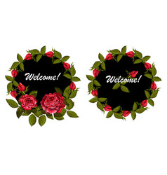 invitation with a design of roses vector image