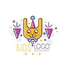 kids logo original creative concept template vector image