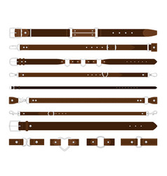 Leather belts set vector