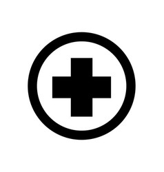 medical sign icon vector image