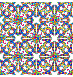 Mexican talavera seamless pattern with tropical vector