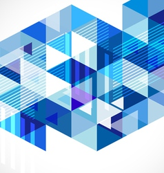 Modern blue geometrical abstract template vector