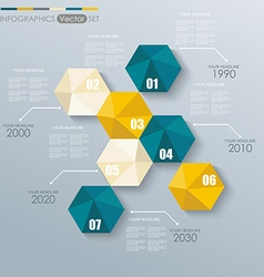 Modern infographics set with Hexagonal abstract 3d vector image