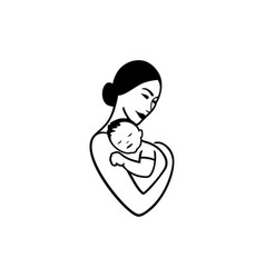 mother and child logo vector image