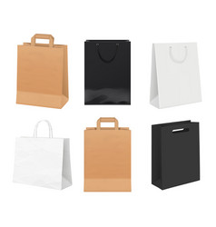 paper bags empty identity packages from white and vector image