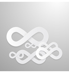 Paper Infinity Symbols Background vector