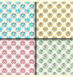 peace outline seamless pattern love world freedom vector image