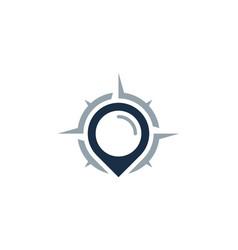 Point compass logo icon design vector
