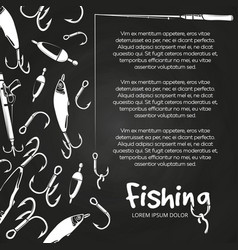 Poster fishing banner vector