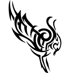 Ram in tribal style - vector