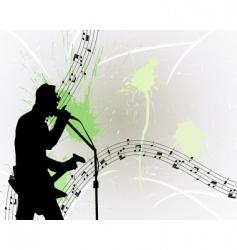rock guitarist vector image