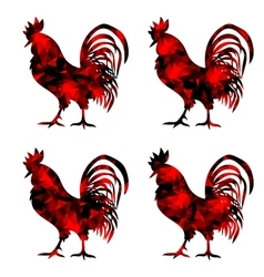 Rooster triangular geometric polygonal roosters vector