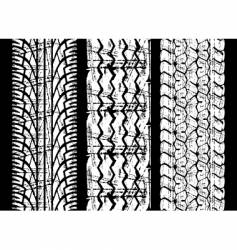 rough tire tread vector image