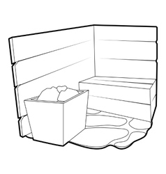 Sauna icon outline style vector