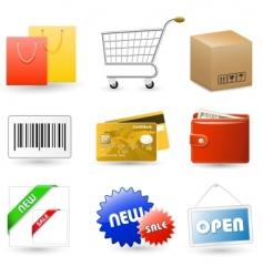 Shop set vector