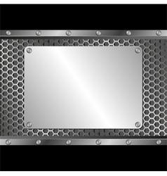 silver plaque vector image