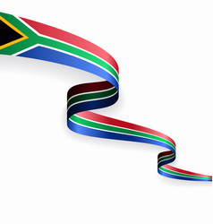 south african flag wavy abstract background vector image