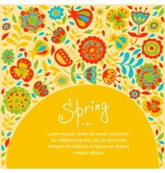 Spring card for congratulations vector
