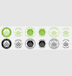 Sticker aloe vera 5 vector
