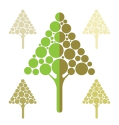 Stylized apple tree icons vector