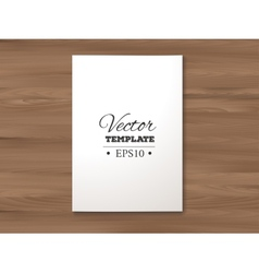 template of blank paper sheet on a wooden vector image