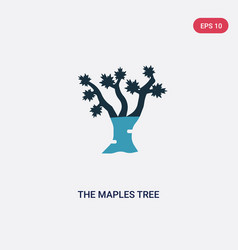 two color maples tree icon from nature vector image