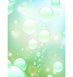 water bubble background vector image