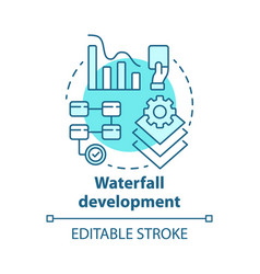 waterfall development concept icon sequential vector image