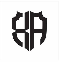 Xa logo shield style monogram design template on vector