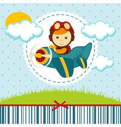 Baby boy pilot vector