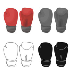 boxing gloves icon in cartoon style isolated on vector image vector image