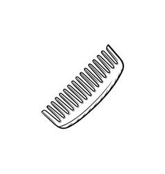 comb hand drawn sketch icon vector image vector image