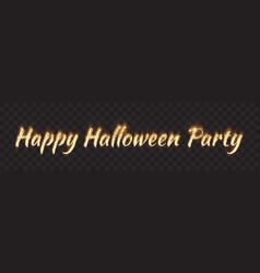 happy halloween party banner vector image