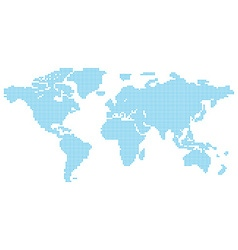 map of the world consisting of blue characters vector image