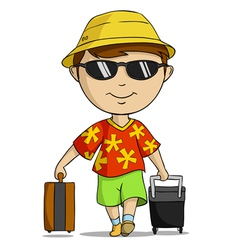 vacation outfit man vector image vector image