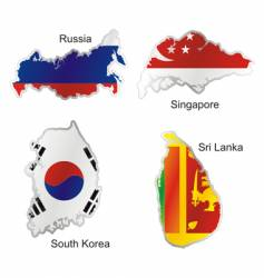 Asia maps vector image