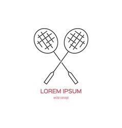 Badminton Logo vector image vector image