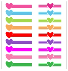 Banner heart vector image vector image