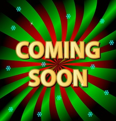 Coming soon background vector