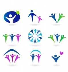 community network and social icons vector image