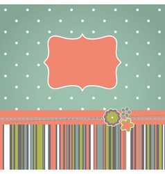 greeting retro design card vector image