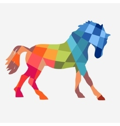 Horse geometric shapes vector
