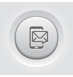 Mobile Marketing Icon Grey Button Design vector image